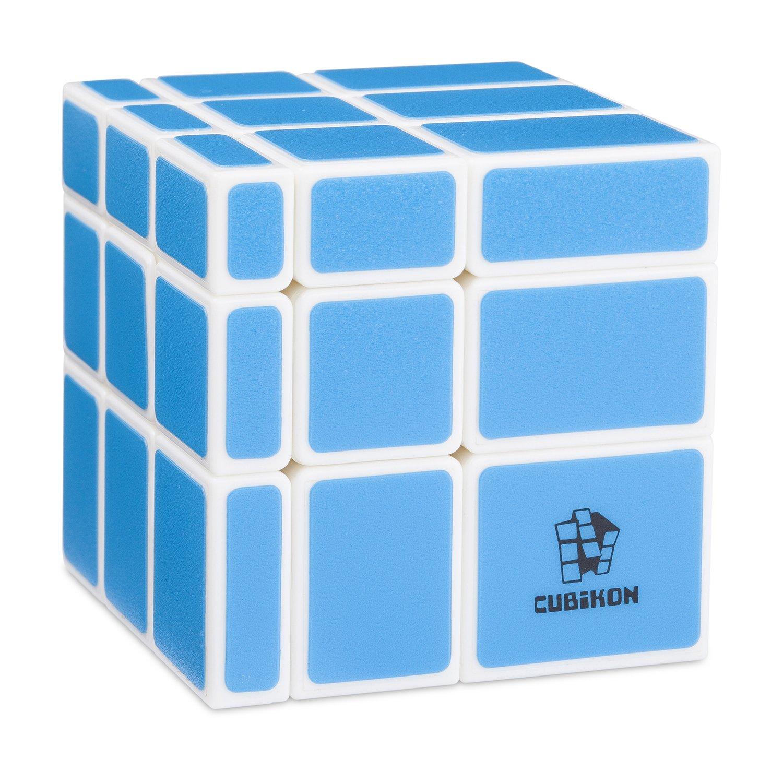 Cubikon Mirror Cube Ultimate - 3x3 Zauberwü rfel verä ndert die Form (Shape-Shift) - Original Speed-Cube mit Cornercutting - BLAU - Gehirnjogging Cubikon Art.-Nr. 9716