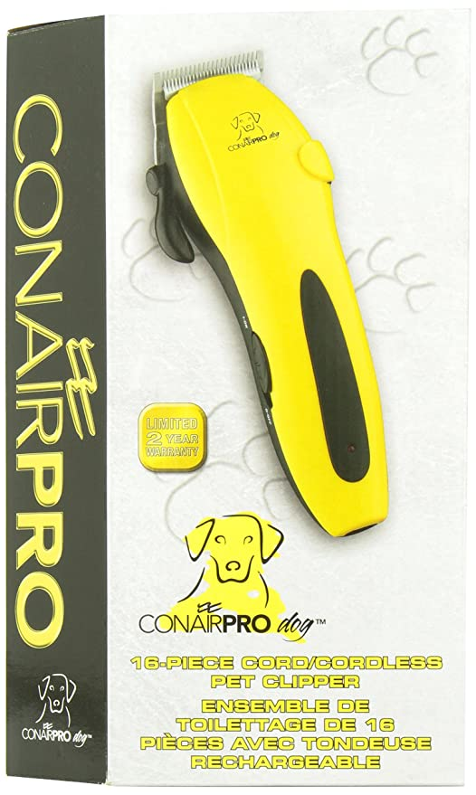 Pet Grooming Clippers : Amazon.com: ConairPRO Dog 16-Piece Pet Clipper Kit