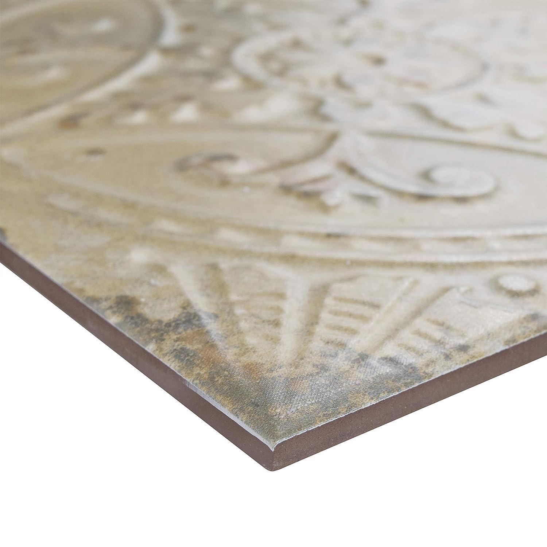 SomerTile FPESAJB Murcia Ceramic Floor and Wall Tile Blanco 13 x 13