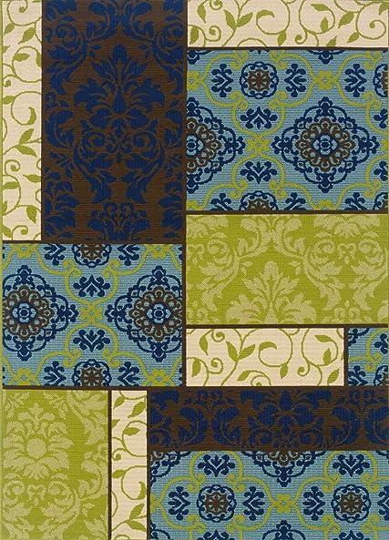 Oriental Weavers 3066V Caspian Outdoor Indoor Area Rug, 8-Feet 6-Inch by 13-Feet