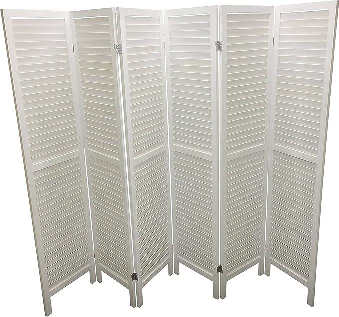 Blanco 6 la partición de panel separador de lamas de madera ...