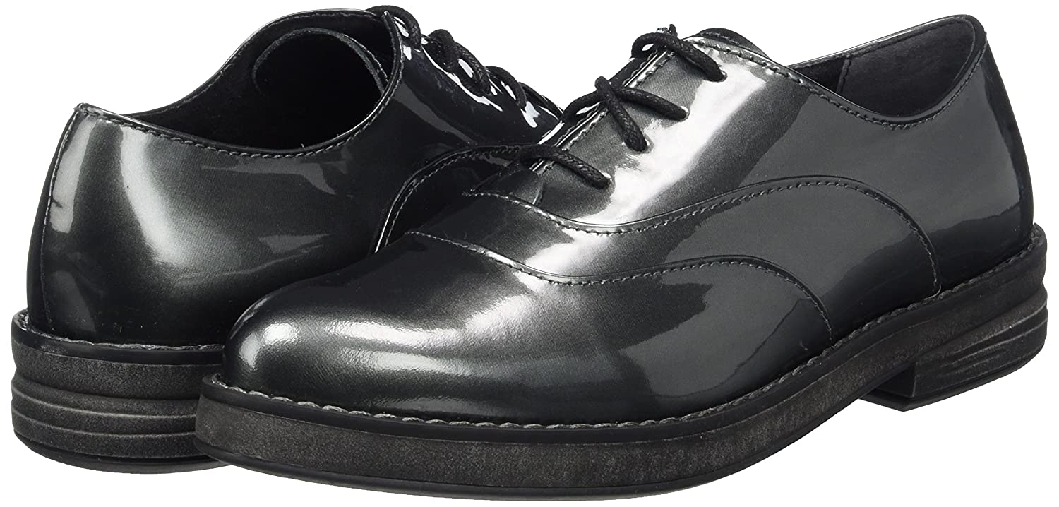 Marco Tozzi Premio Damen 23723 Oxfords Grau Grau Oxfords (Pewter Patent) a47546