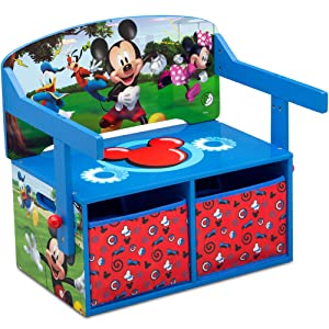 Delta Children Kids Activity Bench, Disney Mickey Mouse