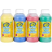 Crayola 4-Count of 236 ml Washable Paint, School, Craft, Painting and Art Supplies, Kids, Ages 3,4, 5, 6 and Up, Holiday Toys