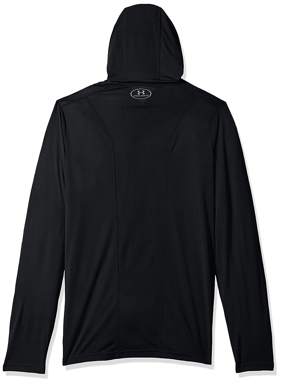 Black Medium Under Armour NCAA Washington Huskies Mens NCAA Mens Triblend Hooded Long Sleeve Tee
