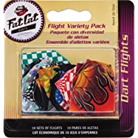 Fat Cat varios Poly Pro dardos: 10juegos de plumas estándar, 30piezas
