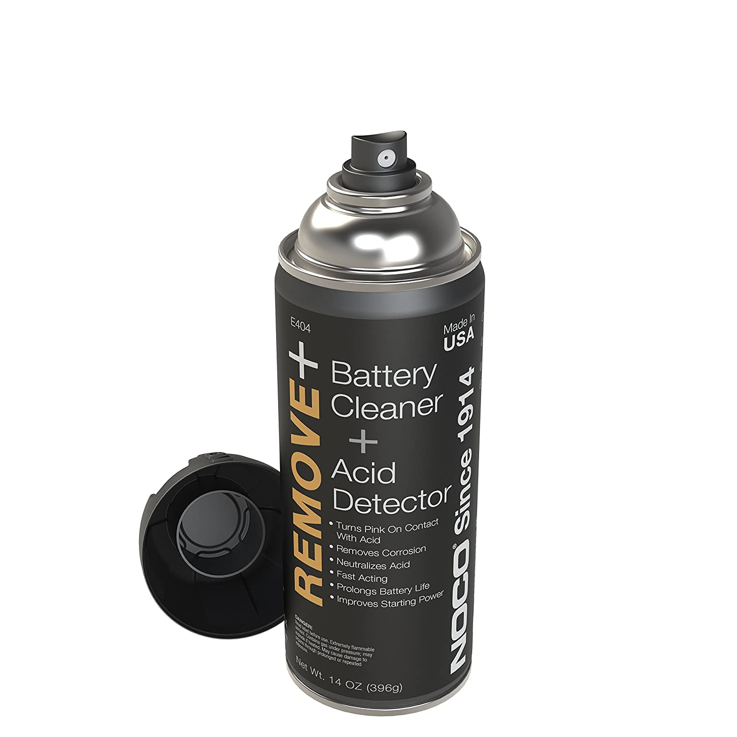 NOCO E404S Battery Cleaner and Acid Detector Aerosol-14-Ounce