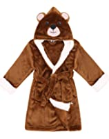 Arctic Paw Boys/Girls' Plush Soft Hooded Terry Bathrobe Theme Party Costume Robe