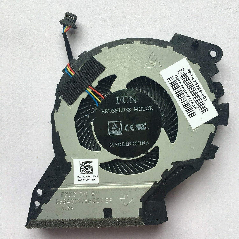 3CTOP Ventilador de refrigeración para Ordenador portátil HP L25223-001 DC28000L0F0 FCC2 4 Cables 4 Pines: Amazon.es: Informática
