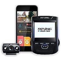 """Rexing V1P 2.4"""" LCD FHD 1080p Gran Angular 170 Grados Doble Canal Cámara de Tablero con Cámara Trasera, Supercapacitor…"""