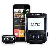 REXING V1P MAX 4K UHD Dual Channel traço CAM, 3840x2160 Frente + 1080p Traseira, WiFi GPS do carro do traço Camera w / Night