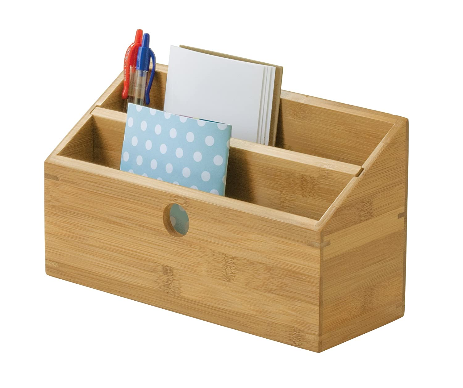 Lipper International 807 Bamboo Wood Expandable Pencil Bak Roll Cat Tidy 9 Inc And Office Supply Holder 7 1 2 X 4 Home Kitchen