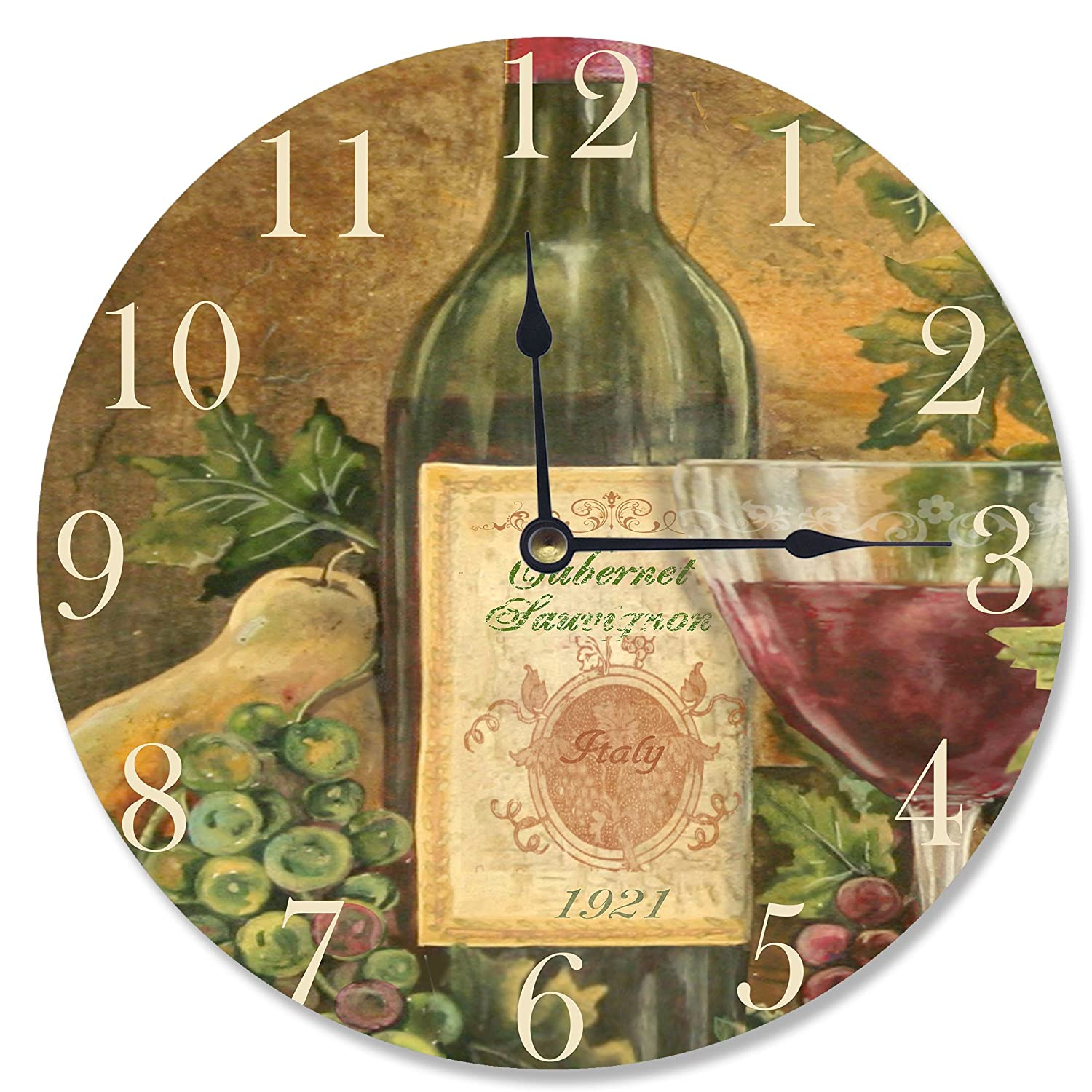 Grapes Of Tuscany Decorative Vanity Wall Clock