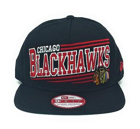 Amazon.com   New Era NHL Chicago Blackhawks Angular AFrame Snapback ... 2dfeb0eb91f6
