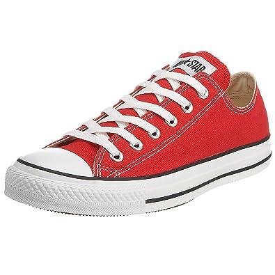 Converse Chuck Taylor All Star Ox, Chaussures de Gymnastique pour Homme Rouge Rouge, 37 M EU 4.5 D(M) US EU