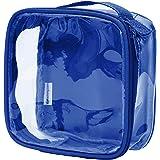 Clear TSA Approved 3-1-1 Travel Toiletry Bag/Transparent See Through Organizer (Royal Blue)