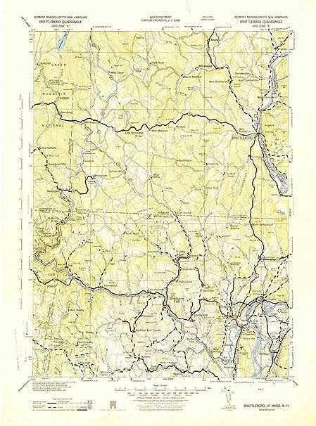 Amazon.com: YellowMaps Brattleboro VT topo map, 1:125000 Scale, 30 X ...