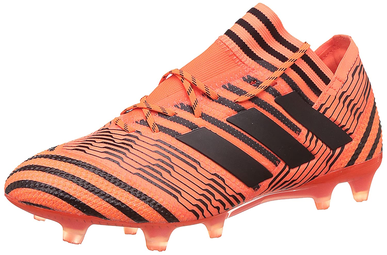 MultiCouleure - Orange Noir Rouge (Narsol Negbas Rojsol) 42 EU adidas Nemeziz 17.1 FG, Chaussures de Football Homme