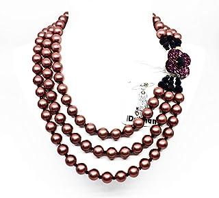 Collier ras du cou de perles rose avec marguerite Art. b000085