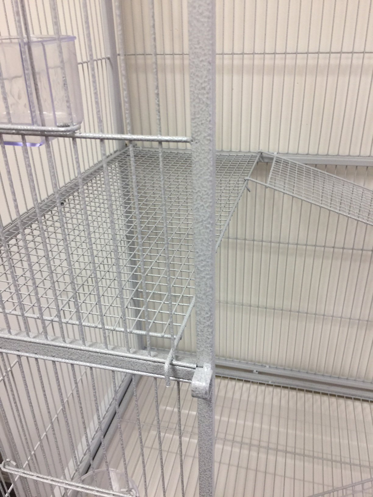 Mcage Large Double Wrought Iron Flight Canary Parakeet Cockatiel Lovebird Finch Sugar Glider Cage With Removable Rolling Stand on Wheels 63'' Length x 19'' Depth x 64'' Height by Mcage