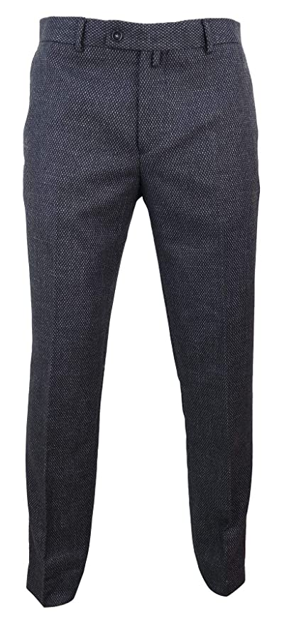 1920s Men's Pants, Trousers, Plus Fours, Knickers Mens Wool Trousers Tweed Charcoal Black Tailored Fit Peaky Blinders Classic $74.24 AT vintagedancer.com