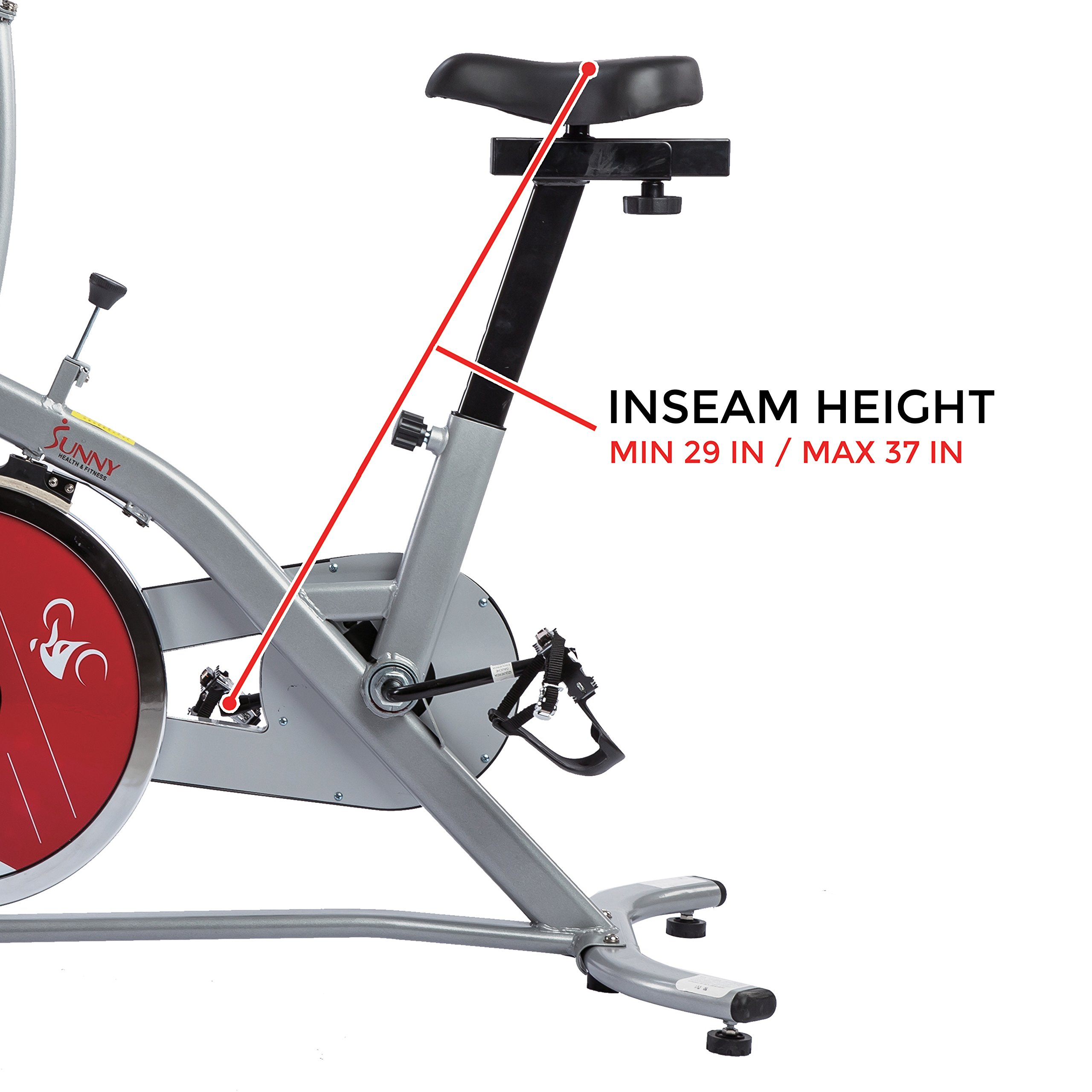 Sunny Health & Fitness Indoor Cycling Exercise Stationary Bike with Monitor and Flywheel Bike - SF-B1203 by Sunny Health & Fitness (Image #11)