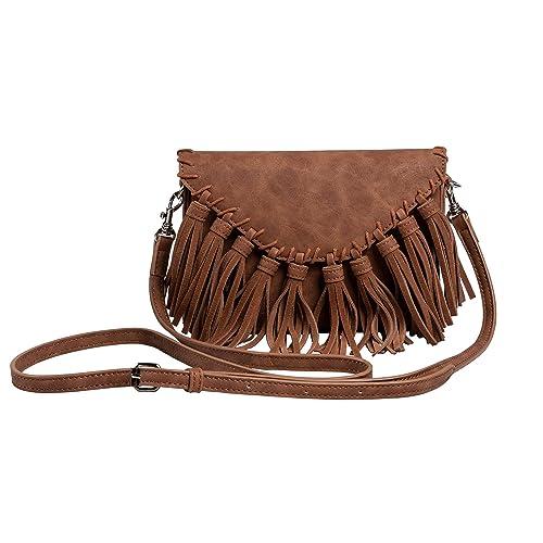 Amazon.com: Bolsas de hombro con flecos estilo vintage ...