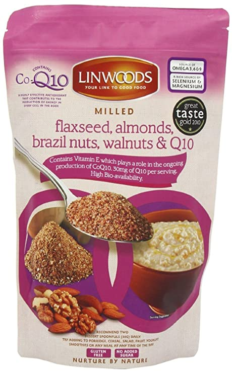 Linwoods - Linaza, Almendras, Nuez de Brasil, Nueces Molidas & Q10 - 200g