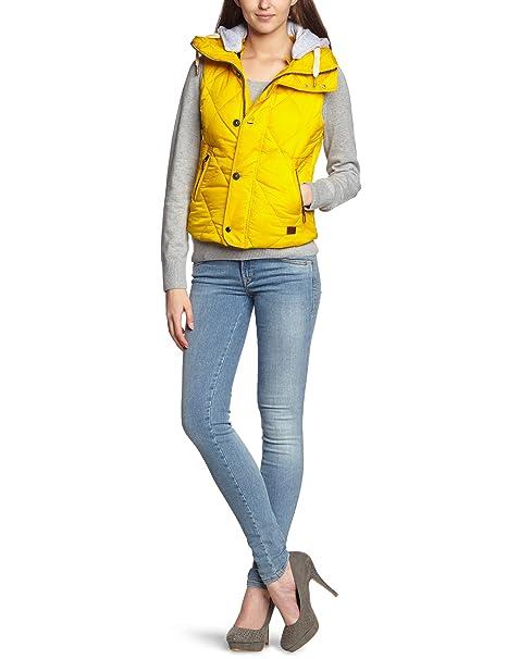 G-Star - Chaleco sin mangas para mujer, talla 38, color amarillo (