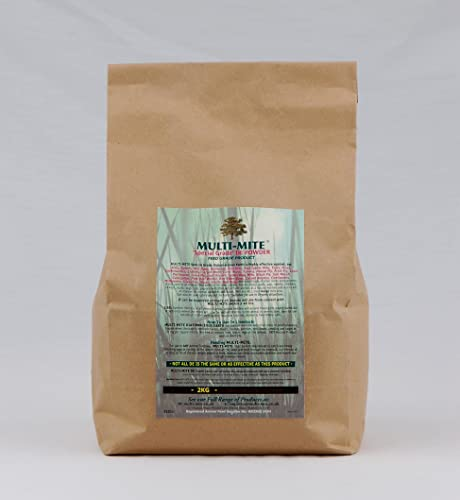 2KG DIATOMACEOUS EARTH Feed Red Mite & Worming DE Powder SPECIAL GRADE DE Multi-Mite® - FREE SHIPPING!