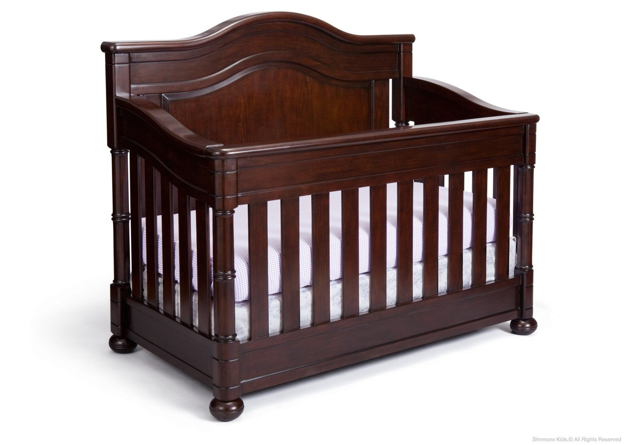 Full Size Conversion Kit Bed Rails for Simmons/Delta Childrens High Point Crib-N-More Crib - Molasses by CC KITS (Image #3)