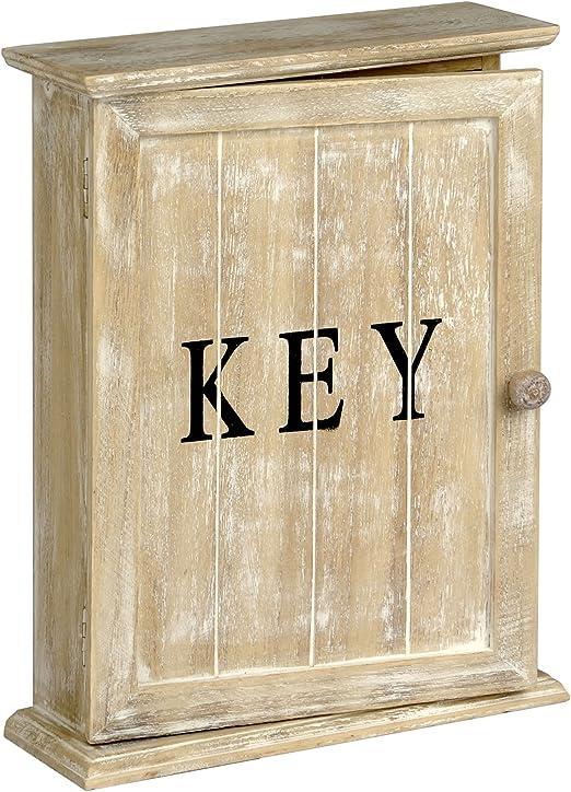 De madera de estilo Vintage caja para llaves de pared para colgar o de pie: Amazon.es: Hogar