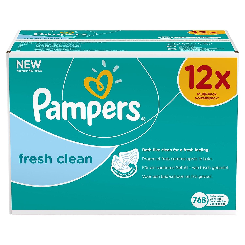 Pampers Feuchte Tücher Fresh Clean Vorteilspack Giga 12x, 1er Pack (1 x 768 Stück) 4015400622598