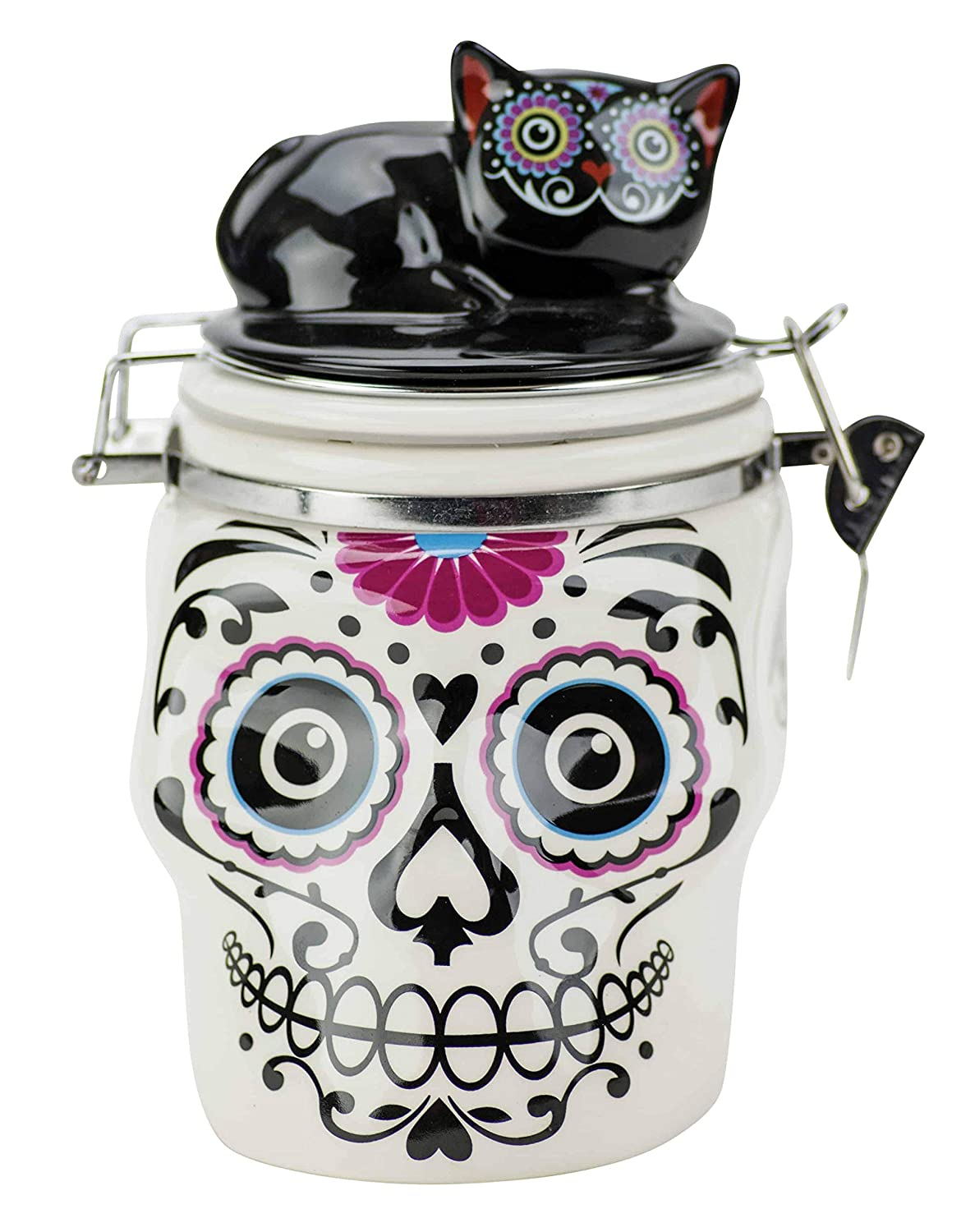 Boston Warehouse 19347 Day of The Dead Hinged Jar