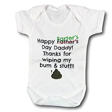 Worlds Best Farter Mean Father Thanks For Wiping Bum Dad Baby Vest Birthday Gift First Fathers Day Funny Amazoncouk Clothing