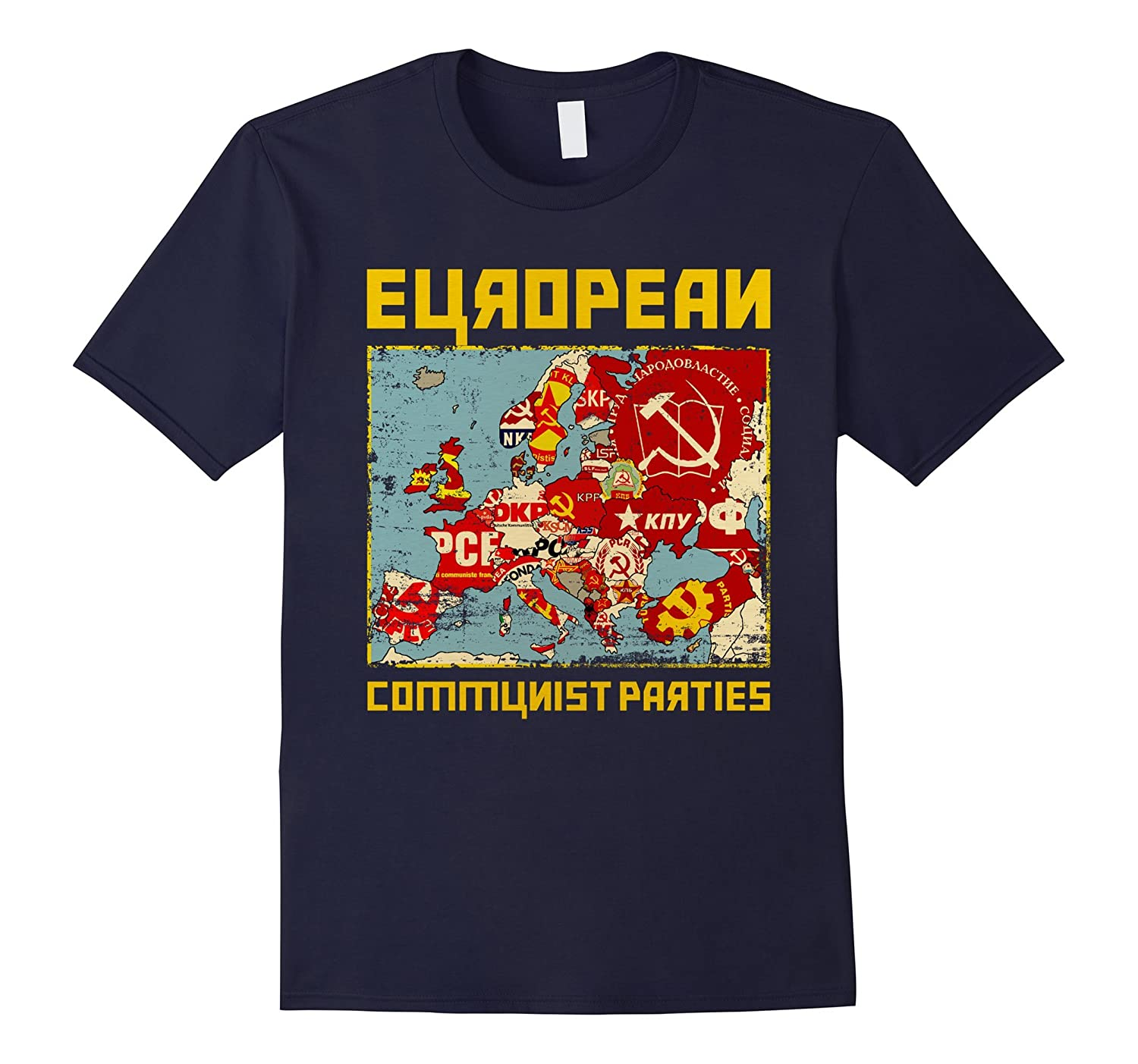 European communist parties - Funny Parody Communist T-Shirt-Vaci