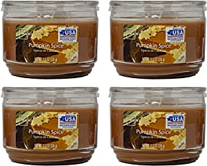 Mainstays 11.5oz Scented Candle, Pumpkin Spice 4-Pack