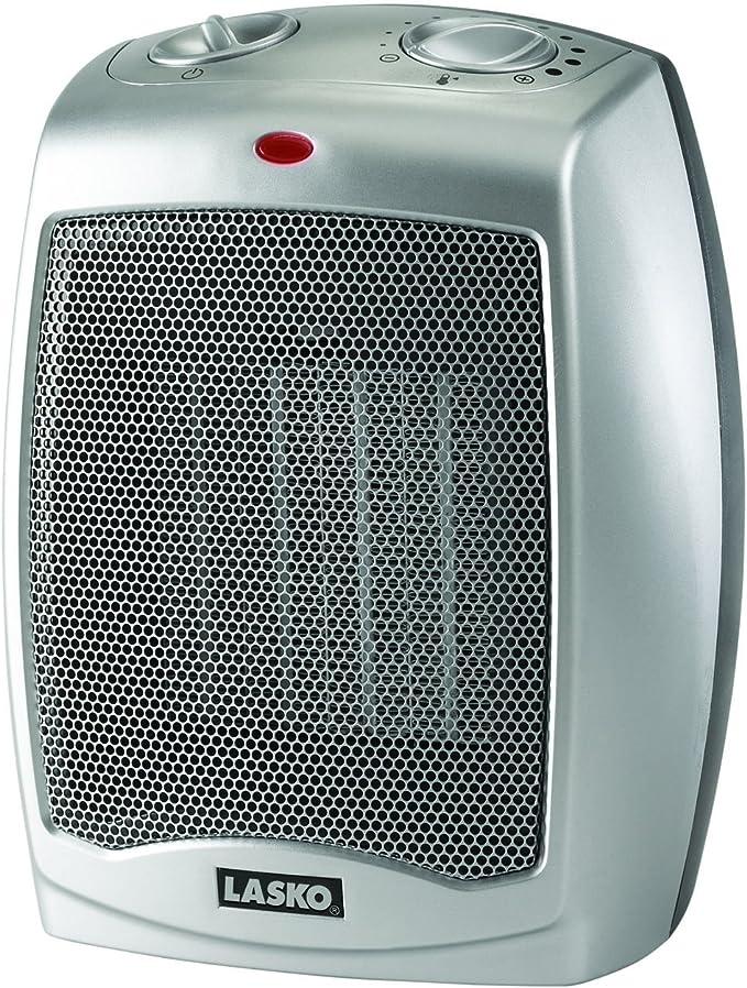 best bathroom heater: Lasko 754200 Ceramic Portable Space Heater, Silver