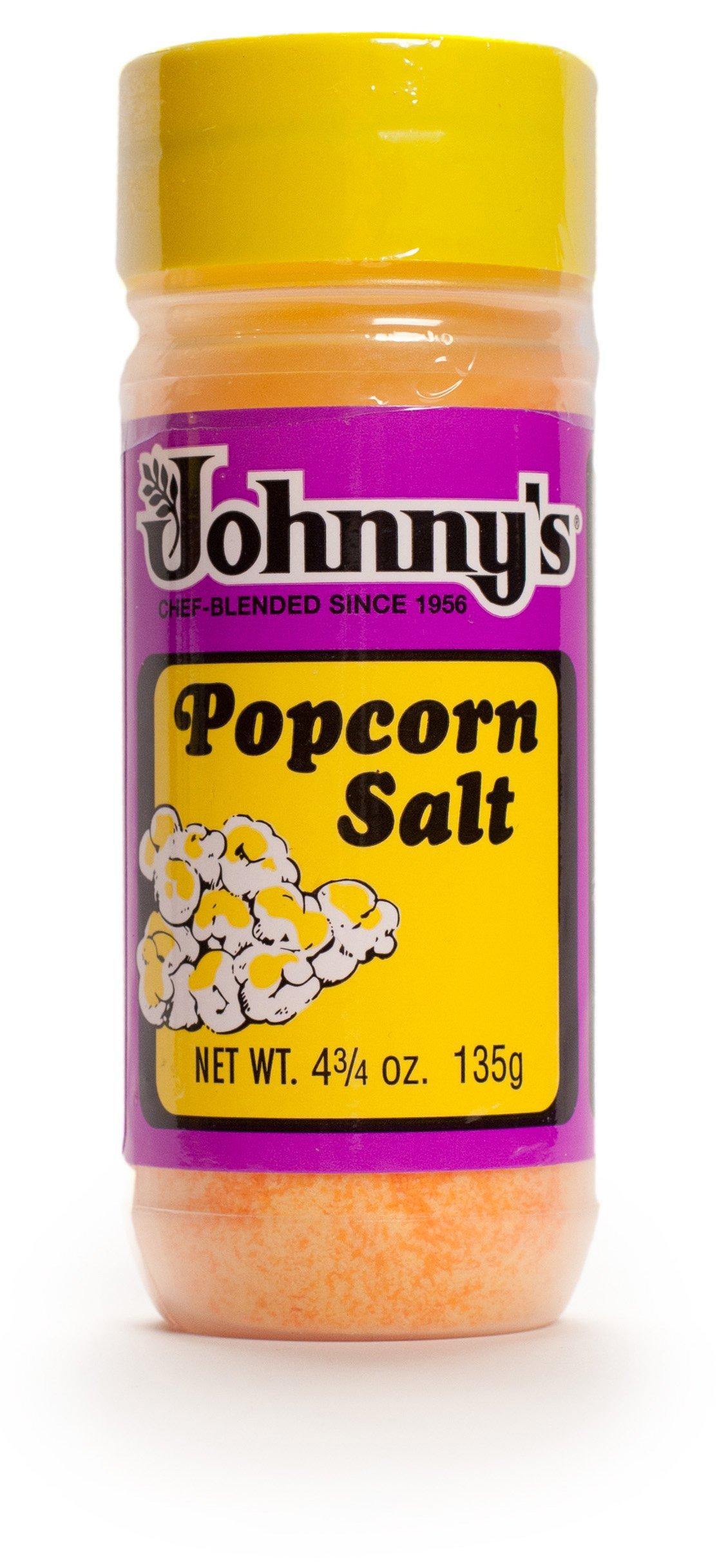 Johnny's Popcorn Salt, 4.75 Ounce (Pack of 6)