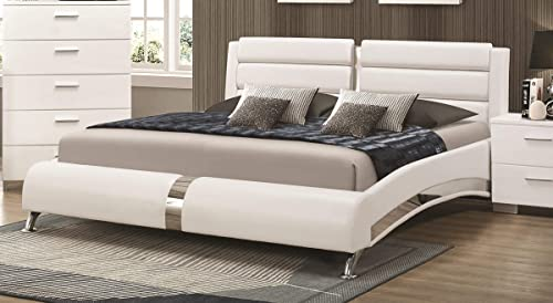 Coaster Queen Bed, Glossy White