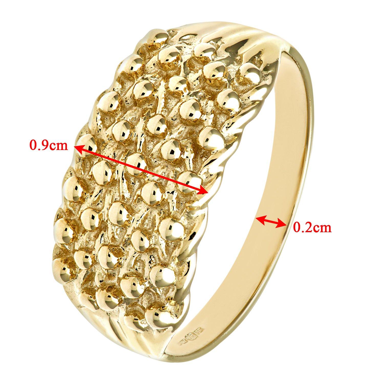 Revoni - 9ct Yellow Gold Ladies Keeper Ring M10NdWIz