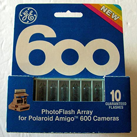 amazon com : ge 600 polaroid flash bar / flash array for polaroid 600 amigo  cameras : camera & photo