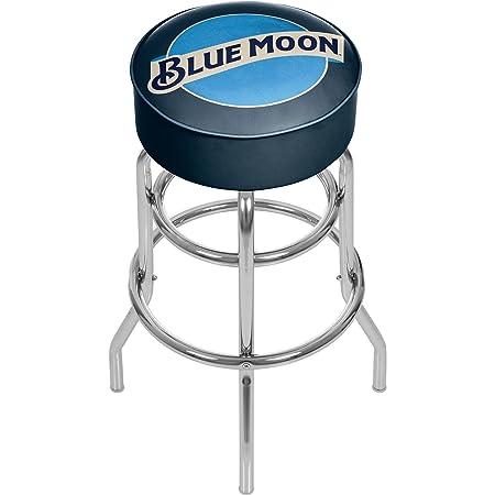 Blue Moon Padded Swivel Bar Stool