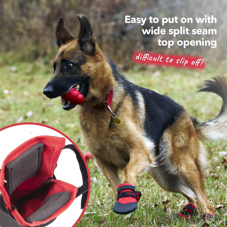 Ultra Paws Hundeschuhe Schwarz strapazierf/ähig