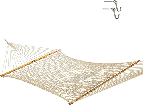 Original Pawleys Island 13DCOT Large Oatmeal DuraCord Rope Hammock