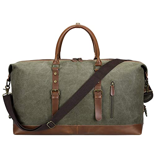 Image Unavailable. Image not available for. Color  SAMSHOWS Oversized Canvas  PU Leather Trim Travel Tote Duffel Shoulder Handbag Weekend Bag aaa698653b2b8