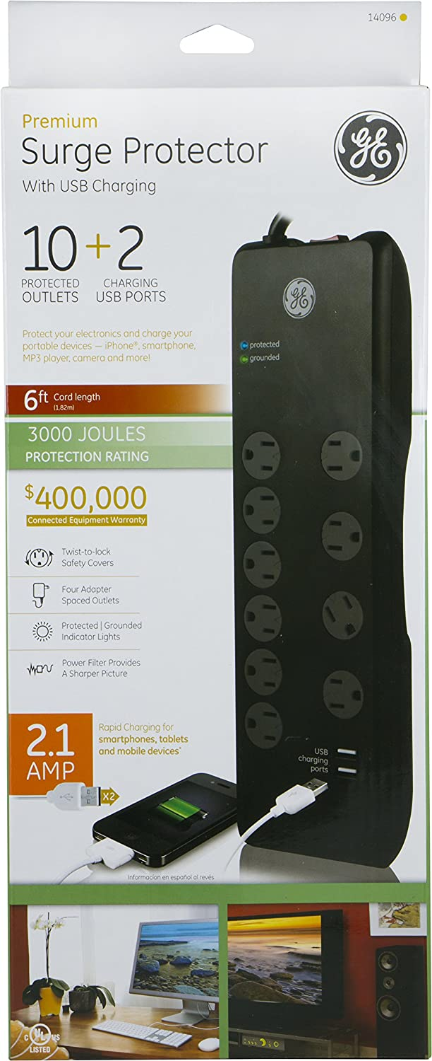 GE 14096 Protector Charging 10 Outlet Image 3