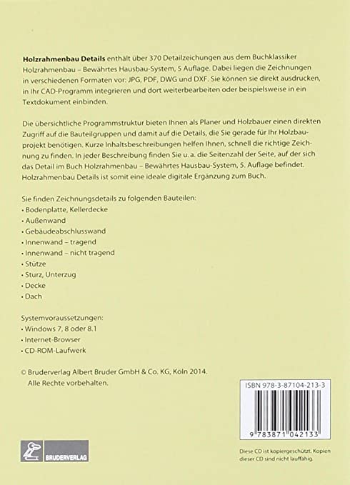 Holzrahmenbau details pdf  CD-ROM Holzrahmenbau-Details: Klaus Fritzen: Amazon.de: Software