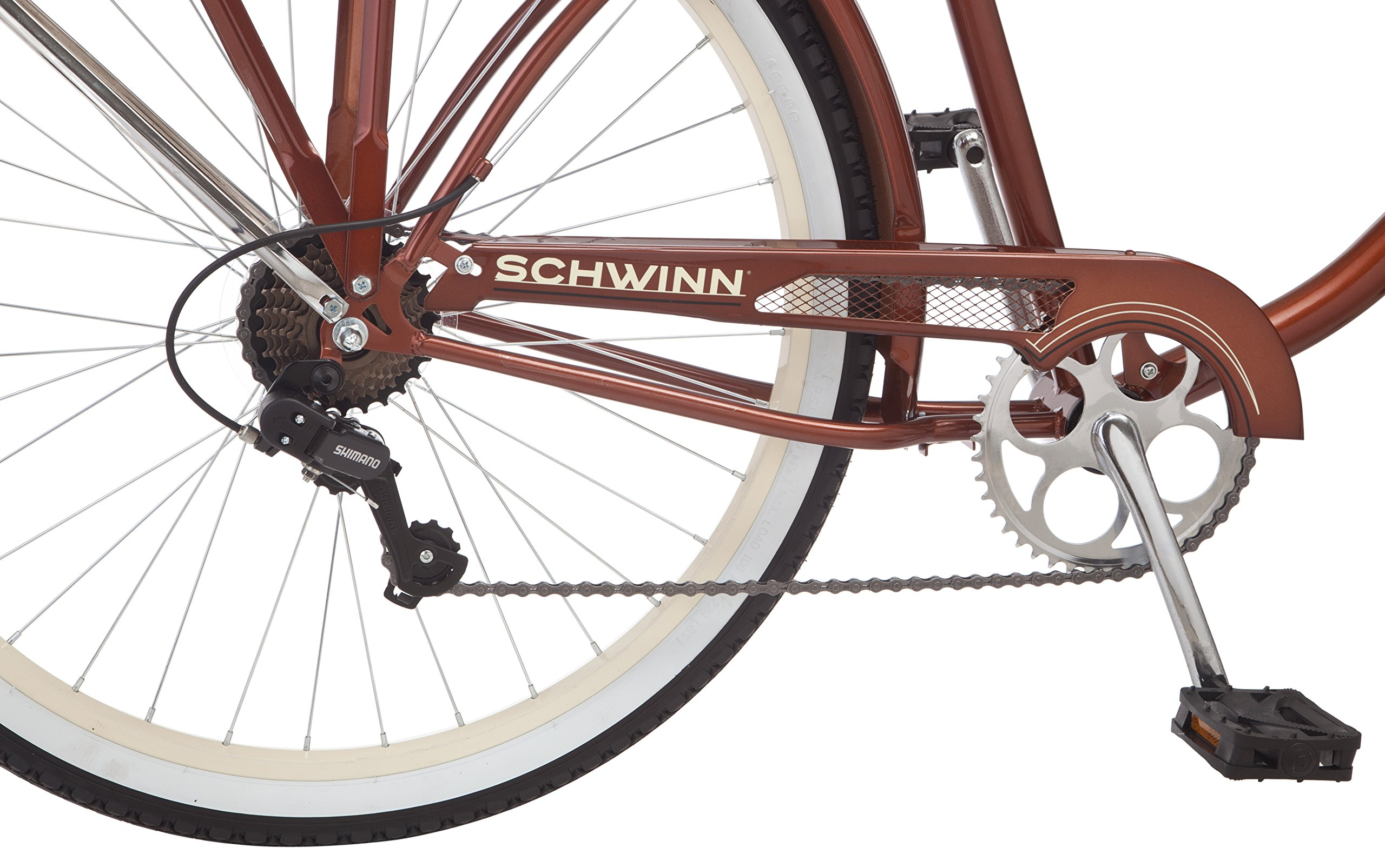 Schwinn Men's Sanctuary 7-Speed Cruiser Bicycle (26-Inch Wheels), Cream/Copper, 18 -Inch by Schwinn (Image #5)