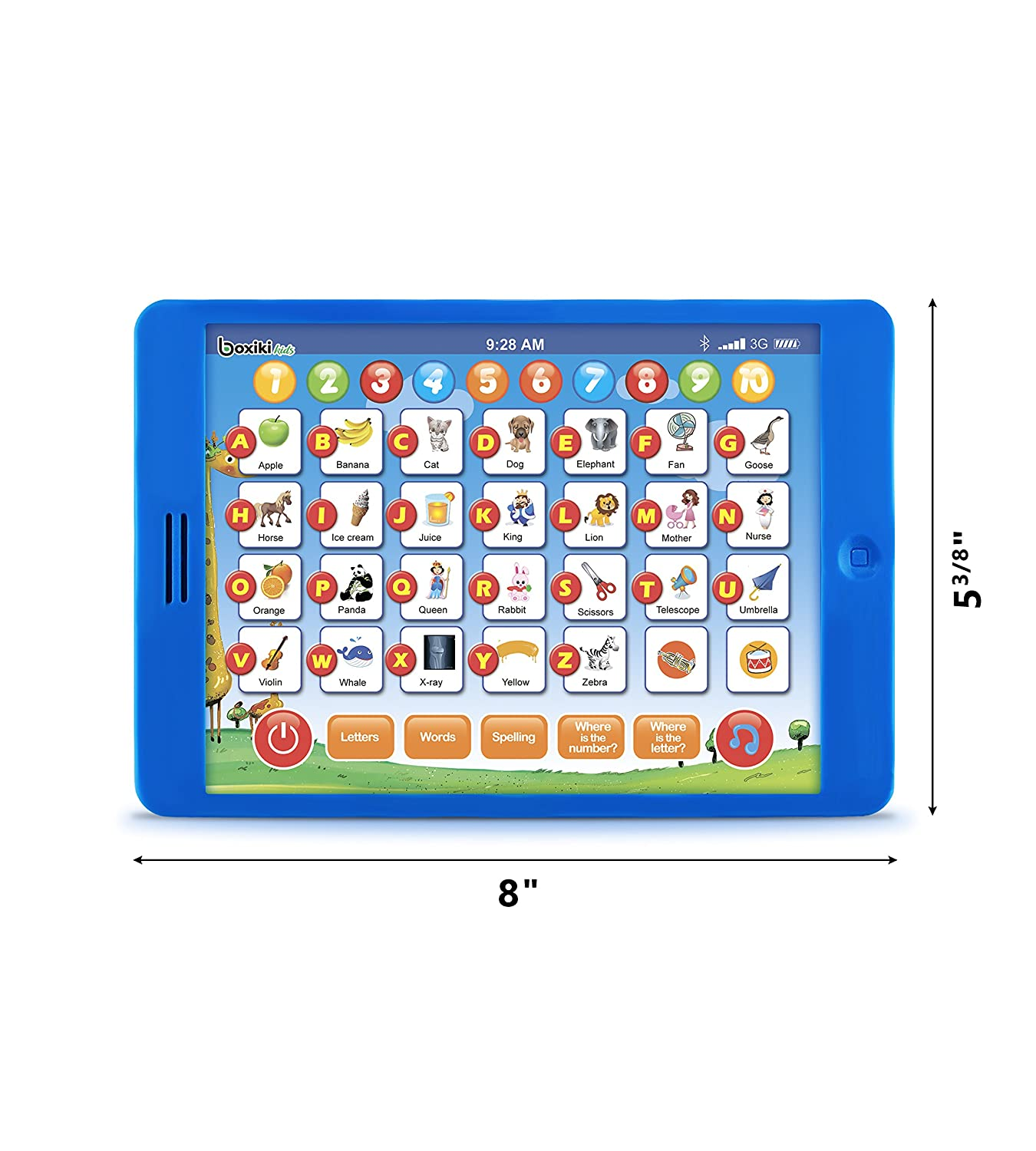 Learning Pad Fun Kids Tablet with 6 Toddler Learning Games by Boxiki